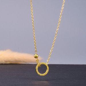 Anhänger Halsketten Mode 18KGP Edelstahl Römische Ziffer Halskette Für Frauen Gold Clavicle Ketten Charms Kreis Ball Schmuck