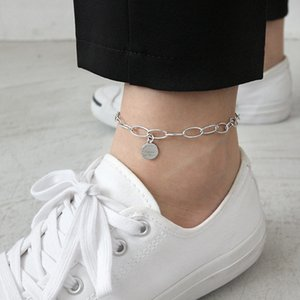 Silvology 925 Sterling Silver Chain Letter Anklets Love Always Being Atlast 2019 Summer Anklets For Women Fashionable Jewelry F1219