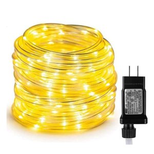 20M 200 LED Rope Lights Low Voltage Outdoor Waterproof Plug in Tube Lights For Deck Patio Pool Christmas Landscape Lighting