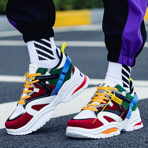 2019 New Kanye West 700 Men Casual Shoes INS Dad Vintage Dad Super Light Breathable Male Zapatillas Hombre Tenis Masculino I9DV#