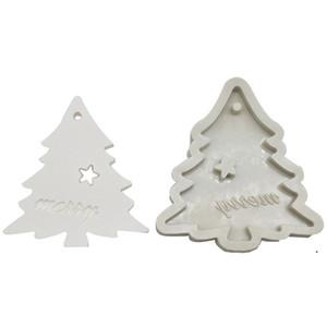 سيليكون خبز قوالب ل diy ندفة الثلج شجرة عيد الميلاد شنقا الخبز أداة أطفال المفاتيح عطر سيارة قلادة كعكة الديكور DHD4958