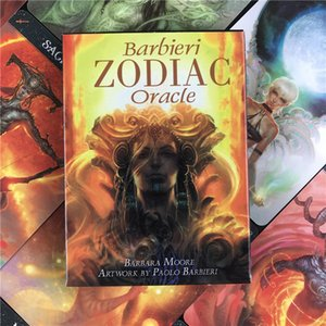 English Version Cards Barbieri Zodiac Oracles CardAbout Divination Fate Art Tarot Card Deck Board Game for Family Party