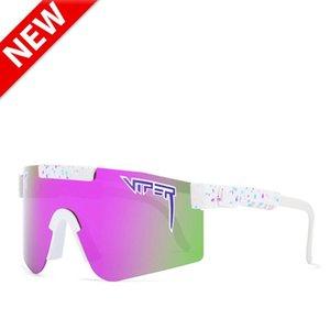 Sunglasses 2021 BRAND Mirrored Lens Pit Viper Unisex Polarized Men Women Sport Goggle Tr90 Frame UV400 25colors
