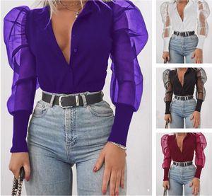 Primavera e autunno Nuova camicia a maniche lunghe a maniche lunghe da donna in autunno e in autunno Stilla di stile Sexy Style Sexy Style Shirt Sexy
