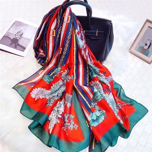 Spring and summer new ladies silk scarf fashion wild scarf sunscreen beach towel shawl