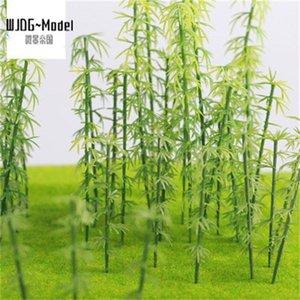 WIKING 100 ADET Yeşil Plastik Model Bambu Ağaçları Ölçek Bahçe Dekor Tren Manzara Manzara Çocuk Oyuncakları L0311