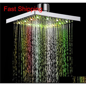 1pc Shower Head Square Head Light Rain Water 26 Home Bathroom Led Changing Shower 7 Colors For Bathro qylwVg toys2010
