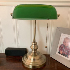 Green color GLASS BANKER LAMP COVER Bankers Lamp Glass Shade lampshade