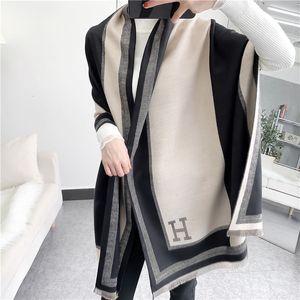 Новый H-Letter Color Matchmere, как шарф, теплый кондиционер зимой, средней и длинной тазонной шалью 0x4h