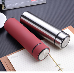 Stainless Steel Thermal Water Bottle Vacuum Insulated Flask 450ml Insulate Thermos Tea Mug With Strainer Thermo Mug Coffee Cup BC BH1385