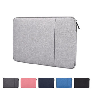Laptop Sleeve Bag with Pocket for MacBook Air Pro Ratina 11.6 13.3 15.6 inch 11 12 13 14 15 inch Notebook Soft Case Cover bag for Dell HP