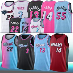 22 Jimmy Dwayne Dwyane 3 Wade Butler 14 Tyler Herro 13 Bam 7 Goran Adebayo Robinson Dragic College NCAA Basketball Jersey