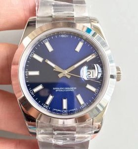 2021 Yeni 41mm Otomatik Hareketi Çelik Şerit Arama Safir Paslanmaz Çelik Saatı Bilezik İzle Erkek Saatı
