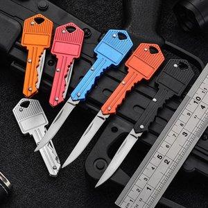 مصغرة للطي بليد سكاكين 6 ألوان مفتاح شكل مفاتيح متعددة الوظائف سكين أدوات قطع الفاكهة في الهواء الطلق صابر السويسري الدفاع الذاتي السكاكين؛ edc أداة والعتاد إجمالي طول 12.5 سنتيمتر
