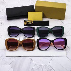 Top Lunettes de soleil B Fashion Lady Cat Eye Brand Sunglasses Anti UV Polarized PC Lens Classique Men et Femmes Lunettes avec boîte cadeau de marque
