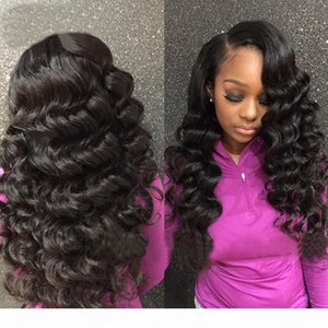 Loose Wave Extensão de cabelo 100% Virgin Brazilian Hair Weave Weave Big Curly Não processado Remy Human Human Bundles 3 pcs Lot Natural Cor Dyeable