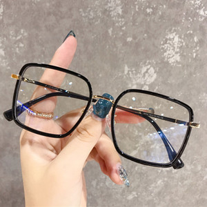 Big Frame Square Anti-Blue Light Glasses Frame Overseized Computer Eyewear Marco para Womenmen Square Glasses Óptico Gafas EyeGlasses 5 colores