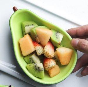 الأفوكادو لوحة السيراميك الأطفال الإفطار وعاء أدوات المائدة الحلوى لوحة وجبة خفيفة لوحة سلطة السلطانية صور الدعائم HWD5539