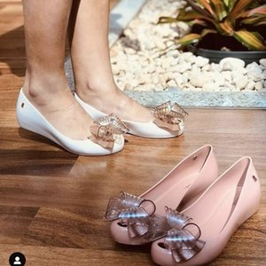 Adult Melissa Ultragirl Sweet VI Bow Women Jelly Shoes Sandals Girl Shoes Sandals For Women Non-slip Melissa Sandals 19113 210306