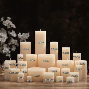 Candles 7.5cm Classic Home Decorative Cylindrical Romantic Smokeless Candle Decor Shooting Background Props Birthday Party
