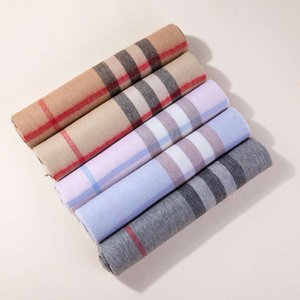 2021 Street Plaid Scarf men's and women's Wool Shawl winter warmth British style student cashmere collar