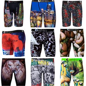 3 ADET ile Ethika Çantası Boxer Erkek 2021 Tasarımcılar Boksörler Marka Iç Çamaşırı Trend Baskılı Plaj Şort Mayo Kısa S-3XL Giyim Yeni H22501