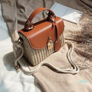 fashion rattan women shoulder bags designer handbags luxury wicker woven crossbody bag summer beach straw bag lady small purses