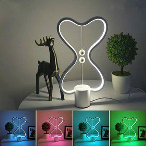 7 colori Heng Balance Lampada Led Night Light USB Powered Home Decor Bedroom Office Tavolo da ufficio Night Lamp Light