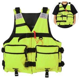 Kayak Life Vest Reflective Life Jacket for Kayaking Fishing Boat Sailing Floatation Safety Waistcoat Water Sport