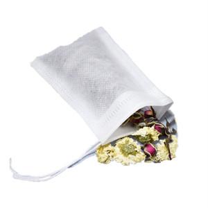 100 pezzi / lotto Sacchetti di filtro da tè Naturale BAG BAGNA BAGNA DI TEA BAGNA BAGNA ESMISTA INFUSHER Vuoto con borse con coulisse 734 k2