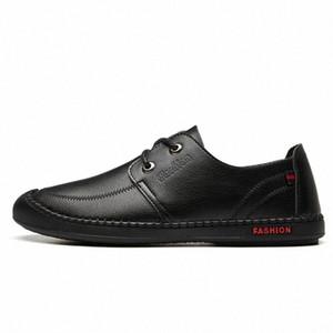 Homens de couro novos sapatos casuais homens mocassins mocassins respirável deslizamento no preto condução mocassim homens macio zapatos de hombre w91a #