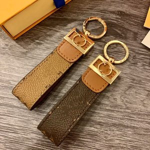 2021 Fashion luxury Key Buckle lovers Car Keychain Brand Handmade Leather Keychains Men Women Bag Pendant Accessories 01