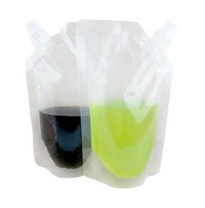 500 ml de boisson en plastique de boisson en plastique sac à becs bec pochette pour boisson liquide jus de lait de lait de café sacs cachetaches sacs kaka8334