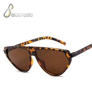 Lunettes de soleil pour les yeux de chat Femmes 2021 Blanc Léopard Rose Dames Mode Quai Sunglasses Retro Petite Festival Lunettes Oculos Feminino