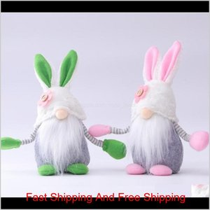 Easter Bunny Rabbit Gnome Faceless Bunny Dwarf Doll Easter Plush Rabbit Dwarf Holiday Party Table Decoration Home Accessories Fy7467 C Nbpcv