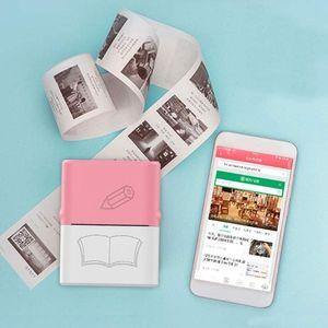 Printers Mini Po Printer Bluetooth Wireless Thermal Sticker Portable Pocket For Printing Memo Label #R20