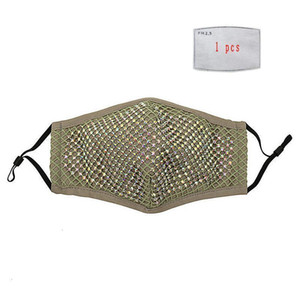 Cheap New Diamond Dustproof Face Reusable Breathable Washable With PM2.5 Filter Gasket Mask Fast Free Shipping DHB107