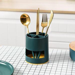 Storage Shelf Drain Rack Cage Bathroom Chopsticks Partition Cutlery Desktop Drainer Fork Spoon Holder Knife Kitchen Organizer Ldmxg