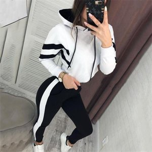Women designer Tracksuits Two Pieces Set luxury Solid Colour High CollarLetter Sports Outfits Women Joggers women designers clothes 2021