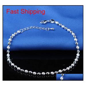 Nouveau Bracelet de la cheville Stralle Sterling 925 pour les femmes Bijoux Femmes Bijoux Inlaid Zircon Anklets Bracelet sur A QYLEGN NEW_DHBEST