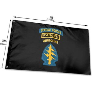 Special Forces Ranger Airborne 3x5 Foot Flag Outdoor Flag 100% Single Layer Translucent Polyester 3x5 Ft Flag