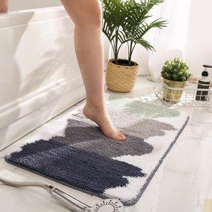 Carpets Tufted Carpet Sogt Plush 2021 Simple Nordic Flocking Caroet Bedroom Bedside Foot Pad Bathroom Absorbent Non-slip Floor Mats