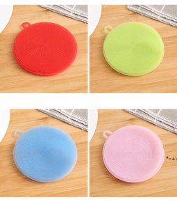 Multifunctional kitchen dishwashing brush Silicone safe non-stick oily material wipes heat insulation pads coasters brushes pots HWD9188