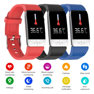 T1S Sports Smart Watch Heart Rate and Temperature Monitoring Bracelet 1.14 Inch Men and Women IP67 Waterproof Smartwatch