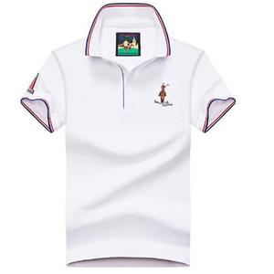 Yaz Saf Pamuk Gençlik Kısa Kollu Polo Gömlek erkek Yaka T-shirt Gençlik Casual Yarım Kollu T-shirt Erkek Trend Üst