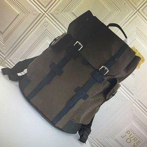 M55699 M45419 كريستوفر صغير مساء الظهر للرجال السفر حقيبة المشي عالية الجودة الكلاسيكية زهرة رجل الظهر taurillon جلدية حقيبة الظهر