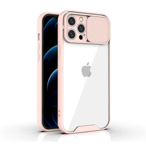 Transparent Push Pull window Phone Case For iPhone 12 Pro Max Mini 11 Xs Xr Samsung A32 A12 A52 A72 A21S A10S A20S