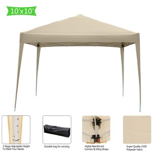 US Stock 3 X 3m Practical Waterproof Shades Right-Angle Folding Tent Khaki Awning Fast Delivery