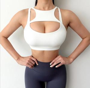 Verano para mujer Yoga Sujetadores Tanques Sólido Color Hollow Out Ladies Camisoles Deporte casual Underwear Ropa de mujer