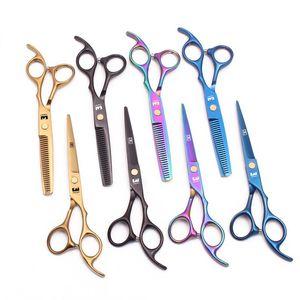 Joewell 6-дюймовый многоцветный ножницы для волос Резка прореживающих ножницы Профессиональные человеческие высококачественные стрижки стрижки парикмахерские ножницы